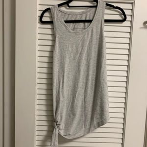 Lululemon side grey tie tank